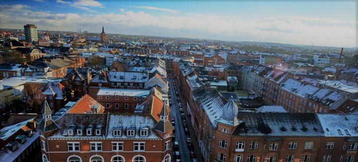 Odense fra fugleperspektiv